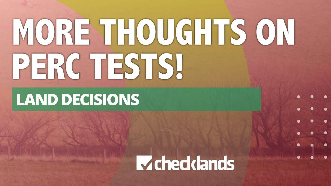 MORE THOUGHTS ON PERC TESTS, Checklands