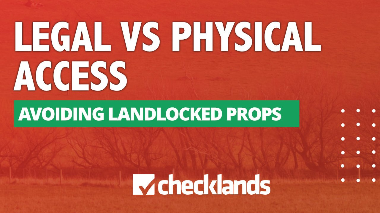 Owning Physical Access To Land, Checklands