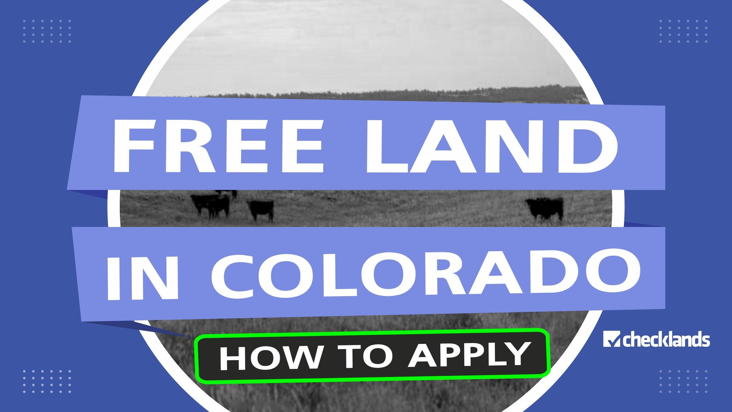 Free Land In Colorado Scaled, Checklands