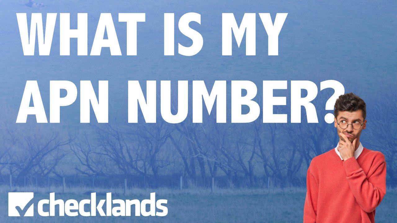 WHAT IS MY APN NUMBER, Checklands