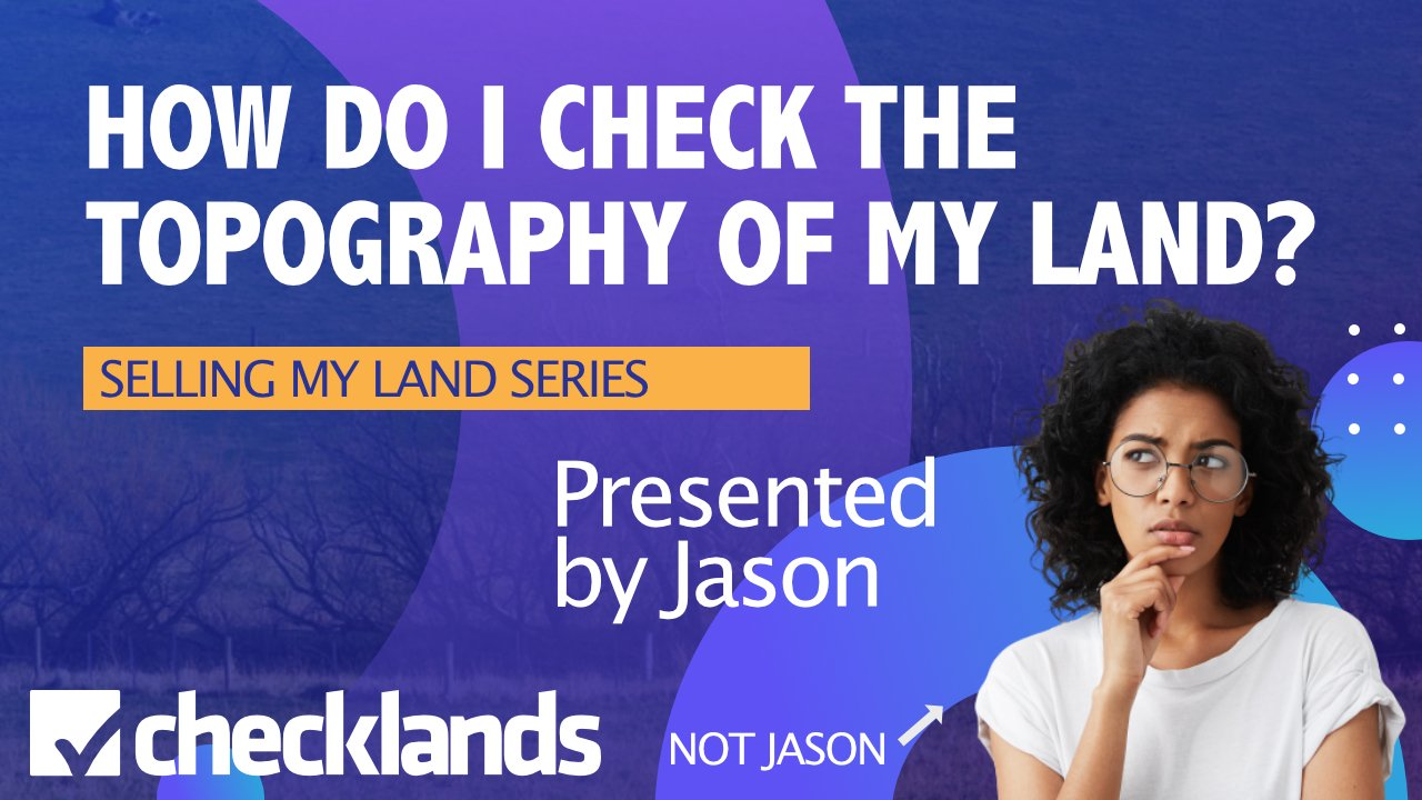 Woman Thinking About Land Typography, Checklands