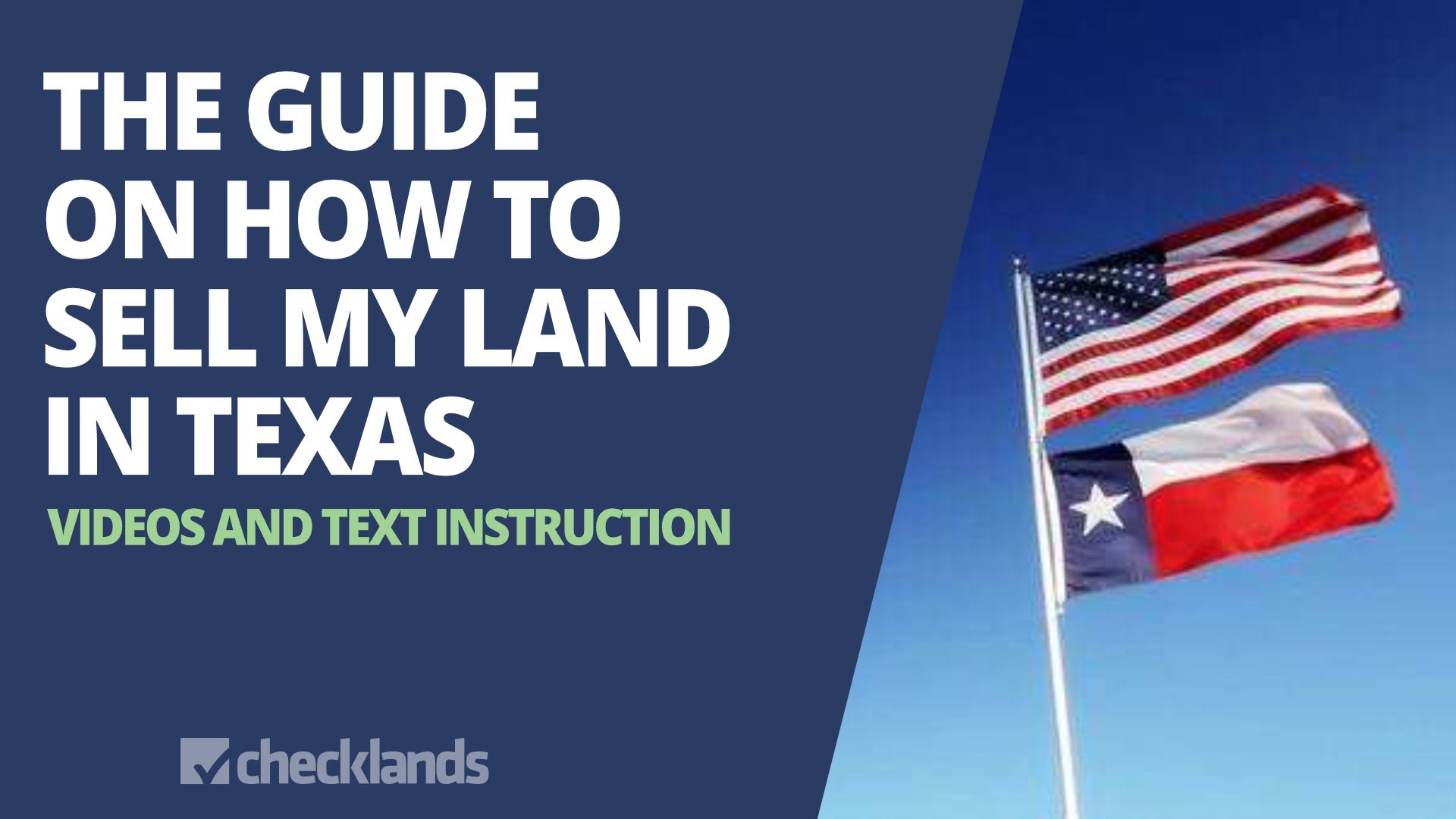 GUIDE TO SELL MY LAND IN TEXAS, Checklands